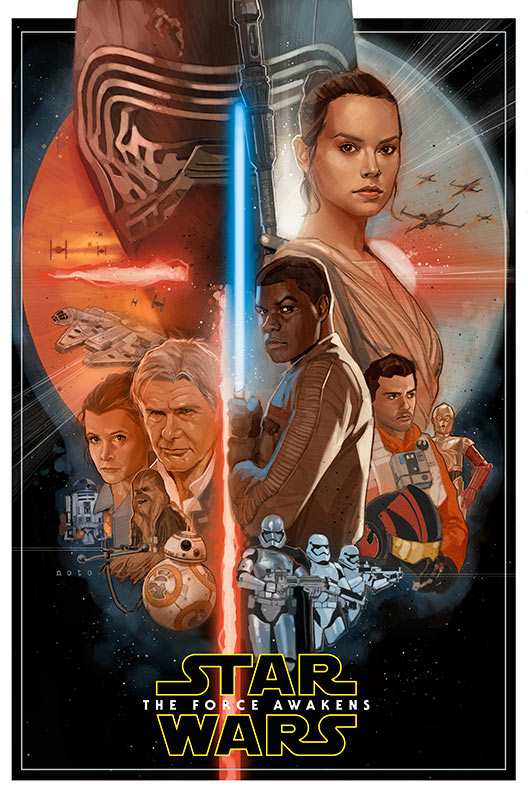Star Wars: The Force Awakens unofficial poster by Phil Noto